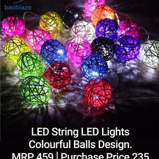 LED String LED Lights Colourfull Balls Design.