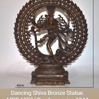 Dancing Shiva Bronze Statue.