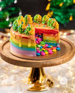Rainbow Pinatta Cake