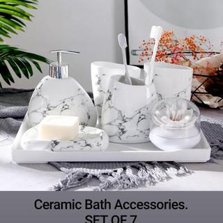 Ceramic Bath Accessories SET OF 7