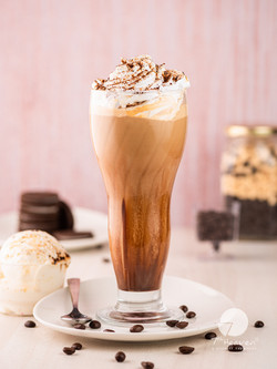 Cold coffee with ice cream