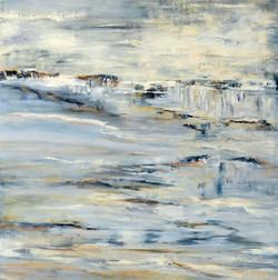 Wasserlandschaft   0,90m x 0, ´90m Öl