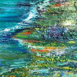 Meereslandschaft Öl  0,40m x 0,40m
