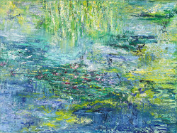 Gruß an Monet 0,80m x 1,00m Öl
