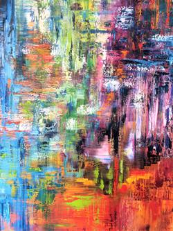 Farbspiel Öl  1,00m x 0,80m