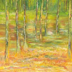 Waldlandschaft 0,70m x 0,70m Öl