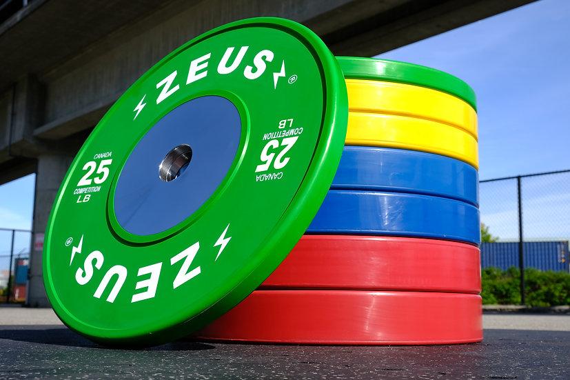 Zeus Competition Bumper Plates - LB