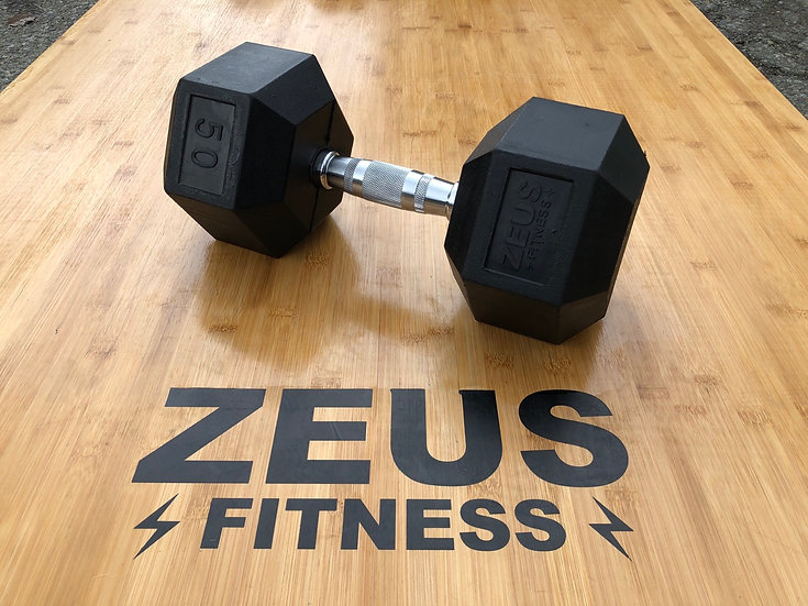 Zeus Rubber Hex Dumbbell