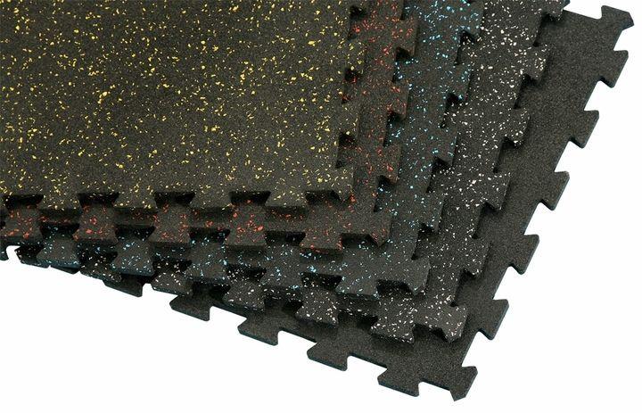 Rubber Flooring - 2' x 2' Interlocking Tile