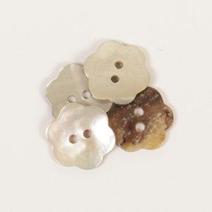 Drops BOTON Flor (blanco): (15mm) Ref. #600