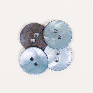 Drops BOTON  Redondo (azul): (15mm) Ref. #621