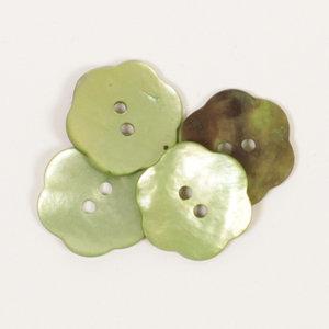Drops BOTON  Flor (verde): (20mm) Ref. #601