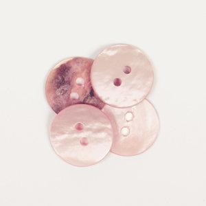 Drops BOTON Redondo (natural): (15mm) Ref. #618