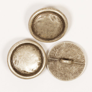 Drops BOTON   Con hebilla (plata): (20mm) Ref. #529