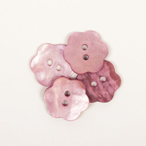 Drops BOTON  Flor (rosado): (15mm) Ref. #616