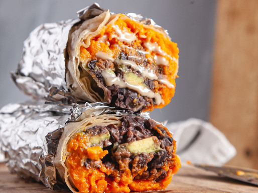 Loaded Sweet Potato, Black Bean, & Avocado Burrito