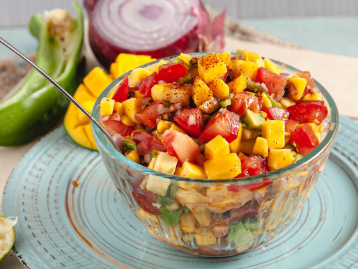 The Perfect Summertime Recipe: Mango, avocado, & corn salsa with lime