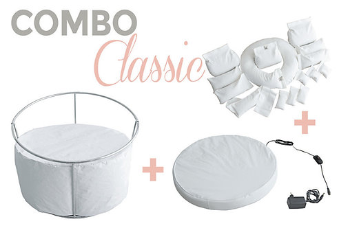 COMBO CLASSIC STAND + BABY BEDTIME + KIT POSITIONERS - PALOMA SCHELL