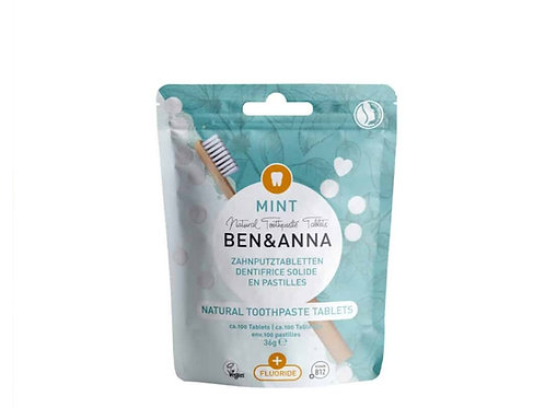 "Natural Toothpaste Tablets ""Mint"" with Fluoride"
