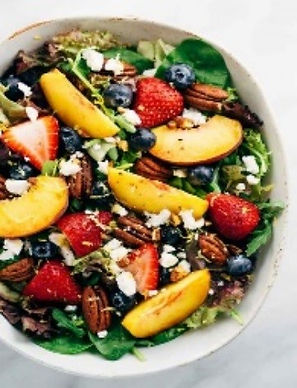 Summer Fruit Salad with Peach Poppy Dressing