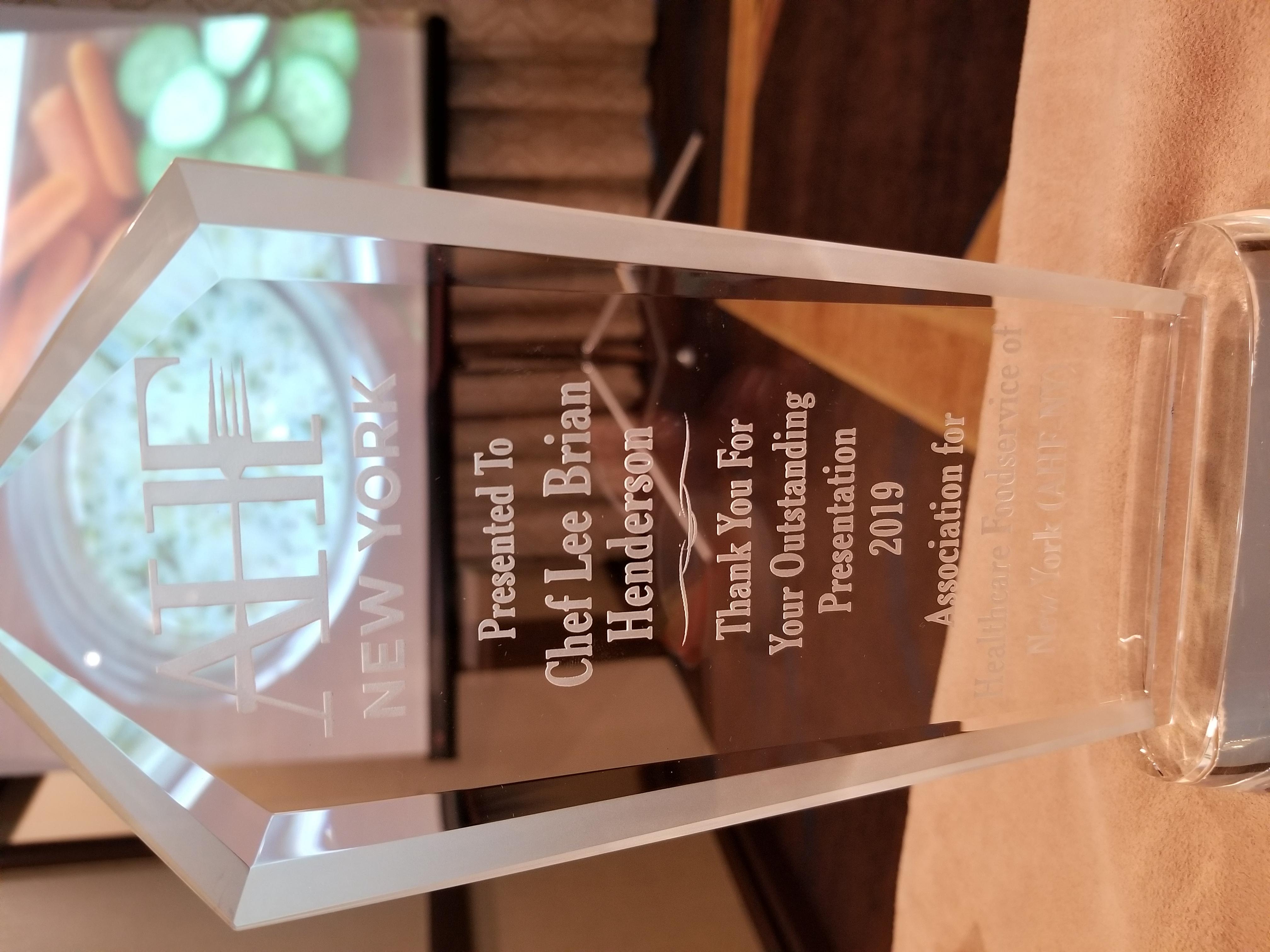 Award – Chef Lee Brian