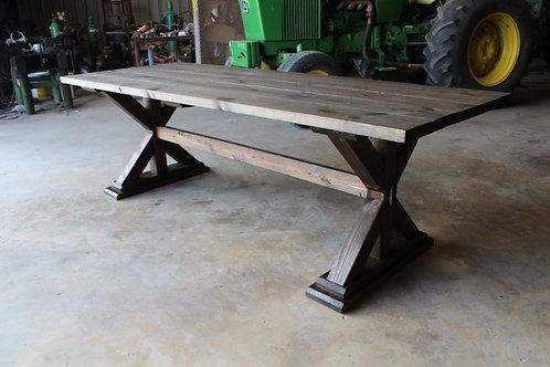 8ft Cross Leg Farm Table