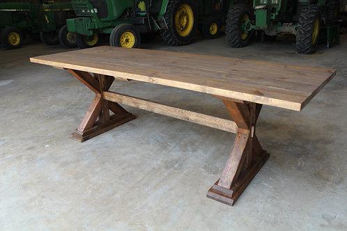 6ft Cross Leg Farm Table