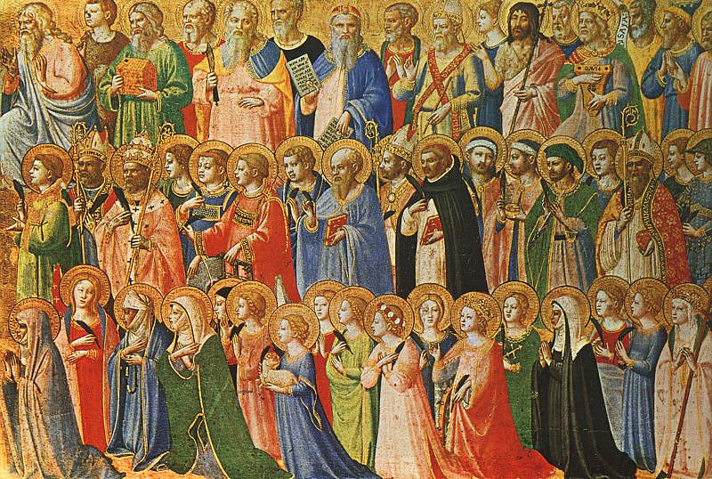 The Forerunners of Christ with Saints and Martyrs (about 1423-24) by Fra Angelico