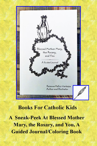 A  Sneak-Peek At Blessed Mother Mary, the Rosary, and You, A Guided Journal/Coloring Book