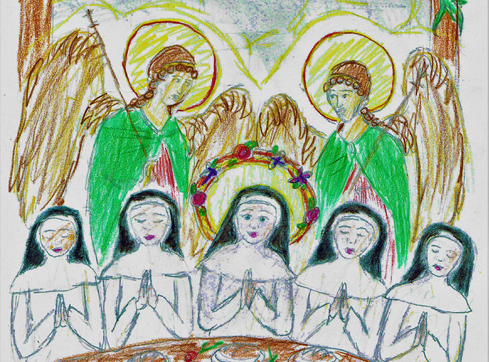 Angels Help St. Rosaline. Catholic Picture Book about nuns.