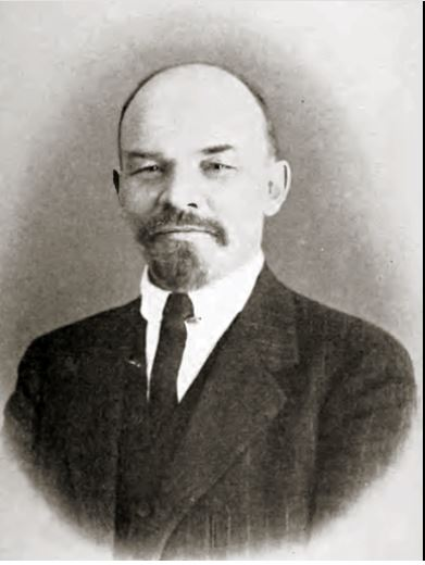 Vladimir Lenin, first president of the Soviet Union, photo by Wilhelm Plier - Published in the 1920 book Barbarous Soviet Russia by Isaac McBride (inset between pages 62 and 63)