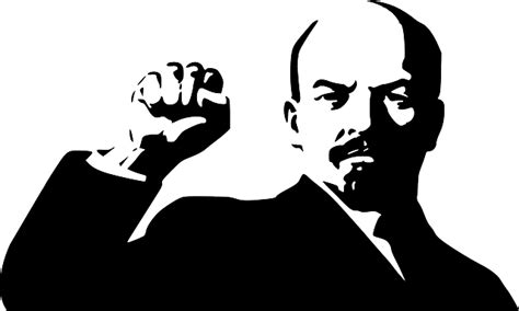 Lenin giving the symbolic sign of the powerfist