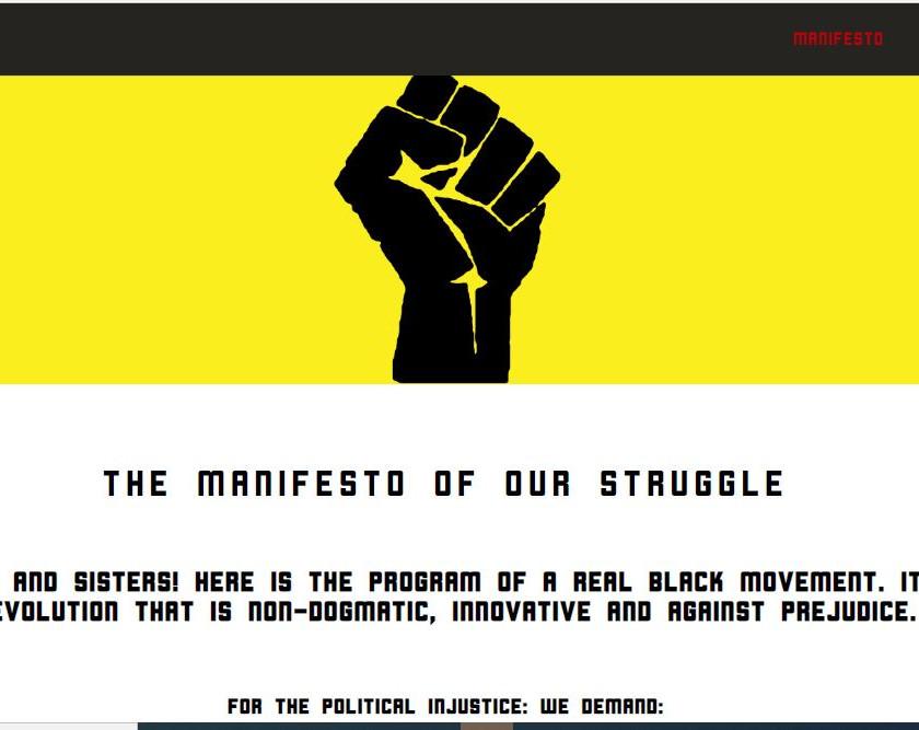 Black Lives Matter Power Fist