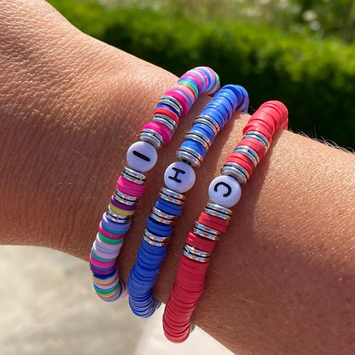 Personalised Bright Heishi Bracelet
