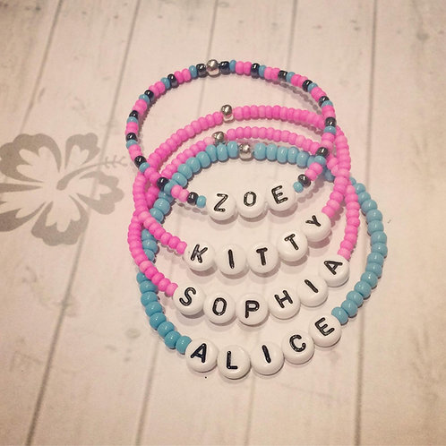 Personalised Beaded Bracelet for Kids & Adults