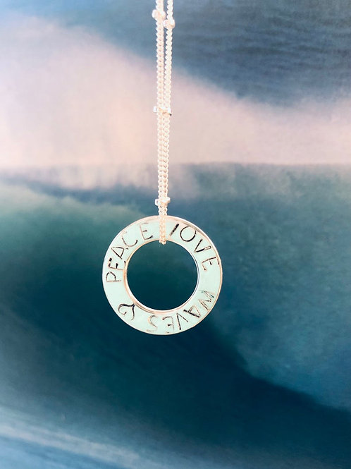 'Peace Love Waves' Necklace