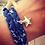 Thumbnail: Liberty of London Star Print Fabric Double Wrap Bracelet with Star Charm