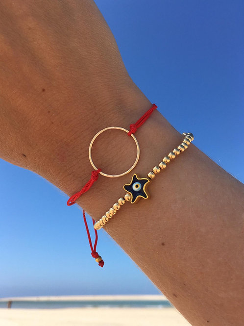 Gold Karma Circle Bracelet