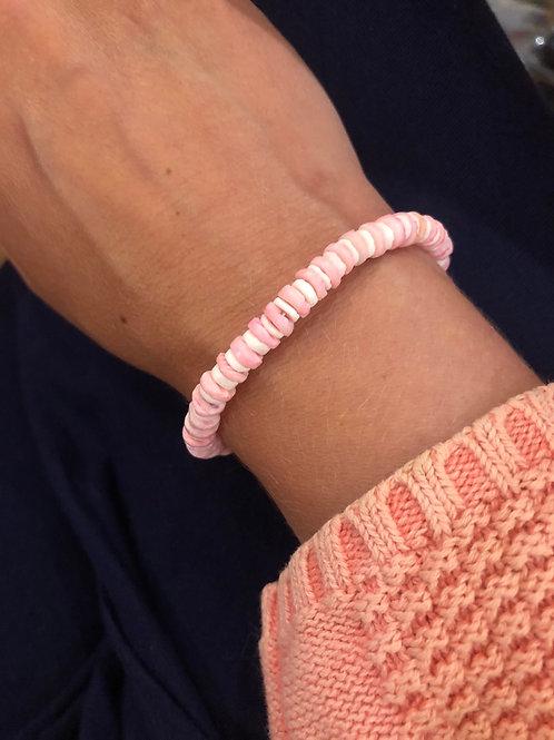 White & Pink Shell Bracelet