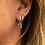 Thumbnail: Sterling Silver Geometric Star Earrings