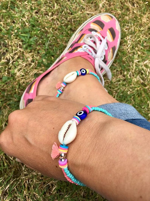 Funky Cowrie Shell Bracelet/Anklet
