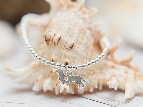 Dachshund Sausage Dog 'Beakins' Charm Bracelet