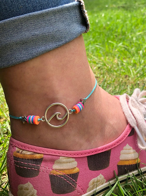 Ocean Wave Ankle Bracelet