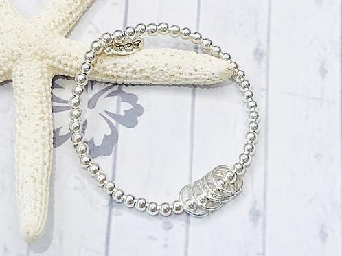 Birthday Bracelet 30th, 40th, 50th, 60th, 70th...Rings for Each Decade