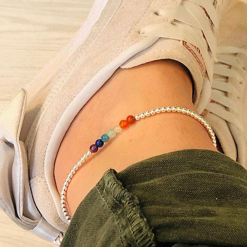 7 Chakra Ankle Bracelet