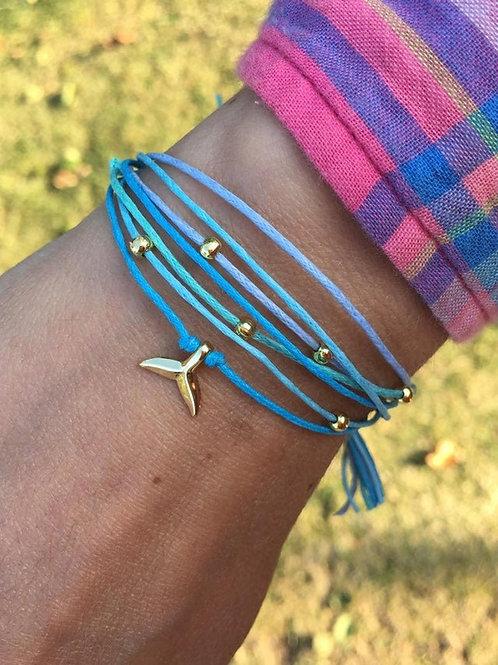 Whale Tail Wrap Bracelet