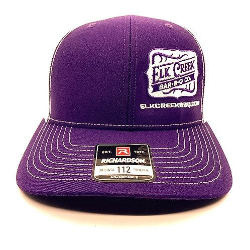 Purple/ White Hat, W/ Classic logo