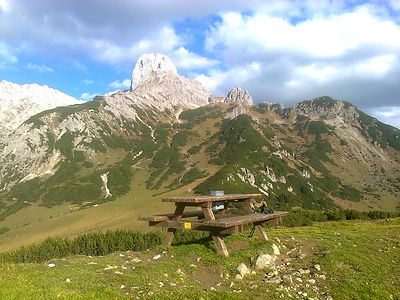 Bankerl am Mahdriedl (1647m) mit Blick a