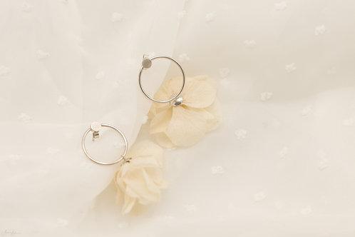 Boucles mini créoles Rose