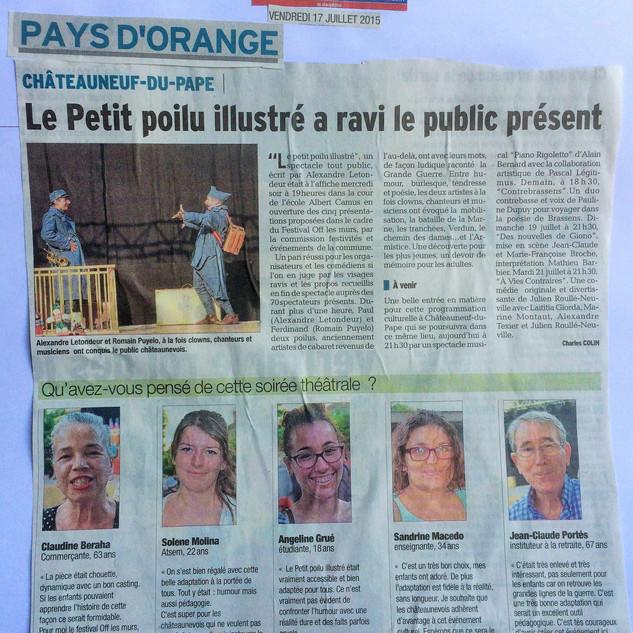 Vaucluse matin chateauneuf du pape IMG_6